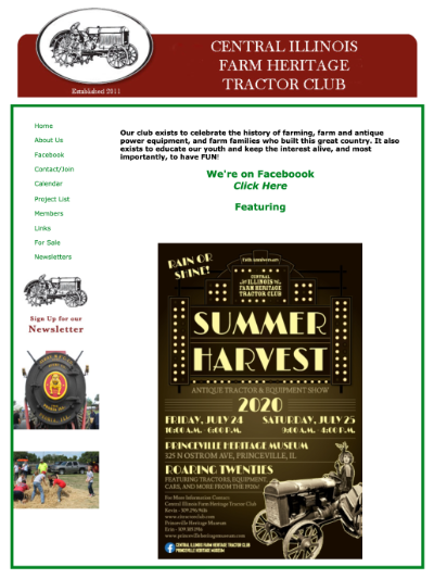 Image of the old website